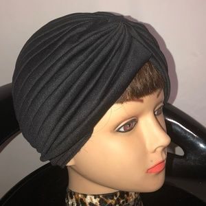 Black turban head wrap